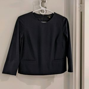 Ann Taylor lined boxy 3/4 sleeve suit top